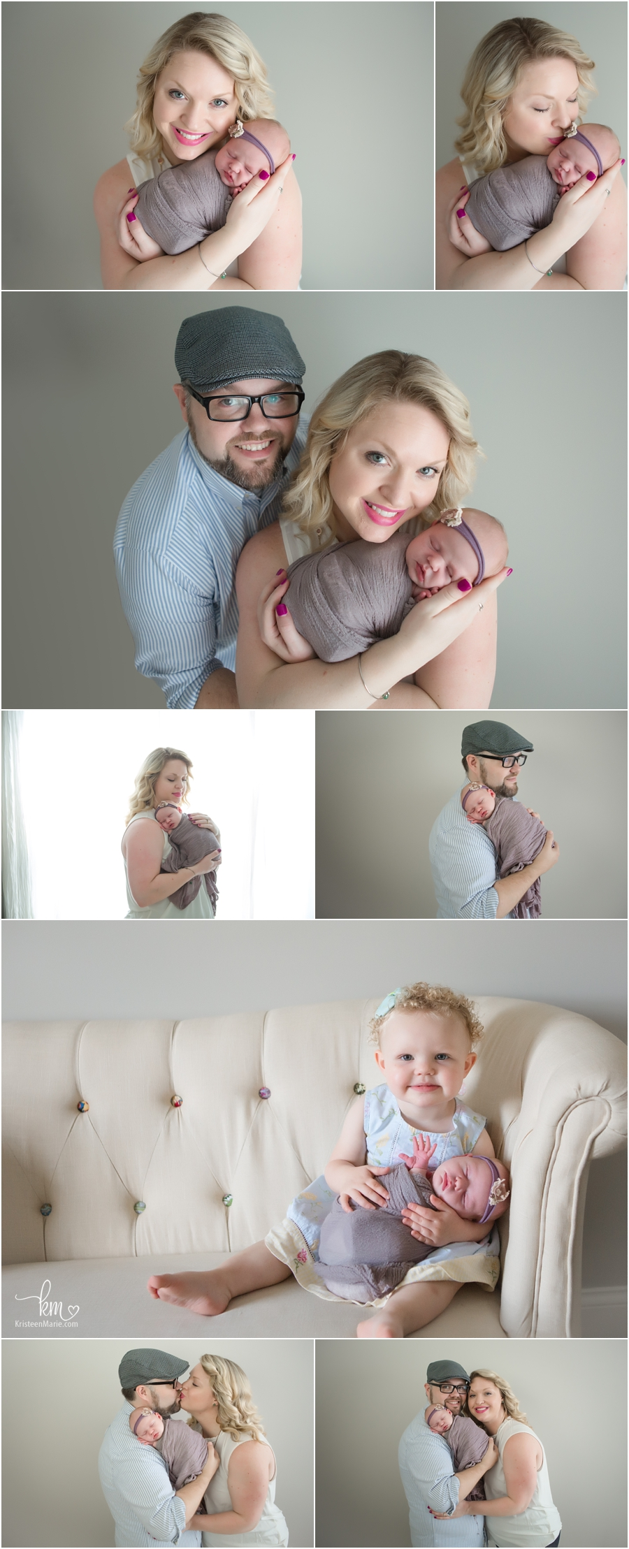 family pictures - Zionsville family photography with newborn baby
