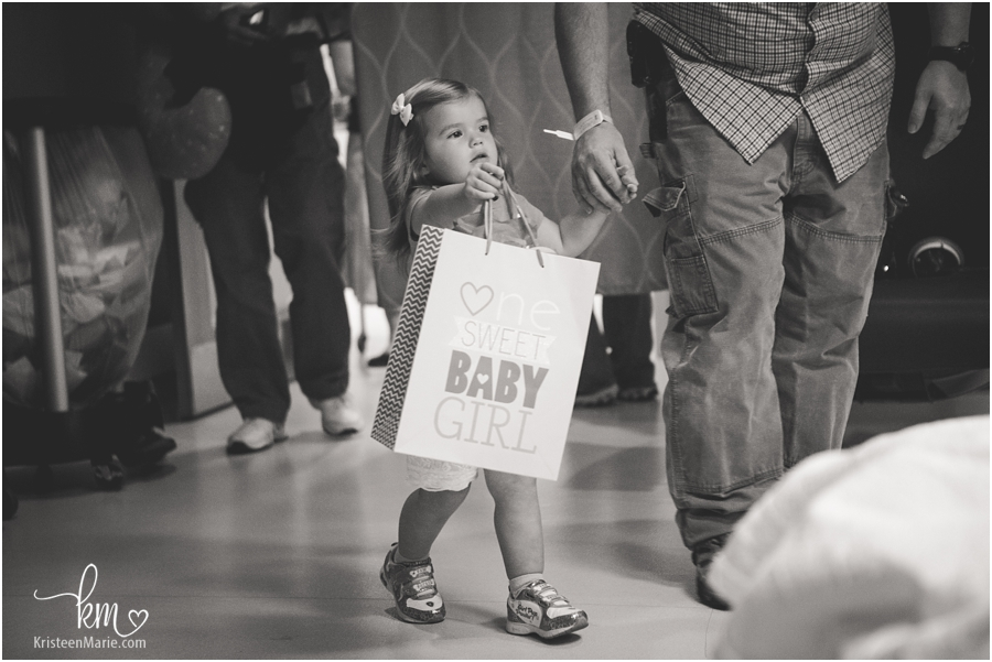 giving a gift to baby