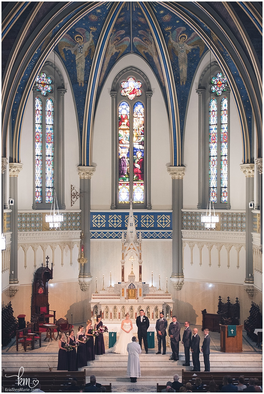 Wedding at St. John the Evangelist Catholic Church