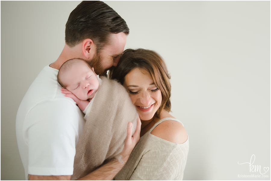 newborn photography with parents