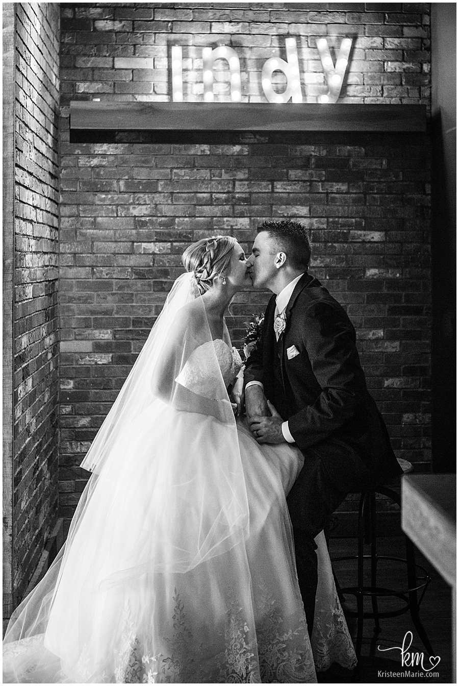 Indy bride and groom