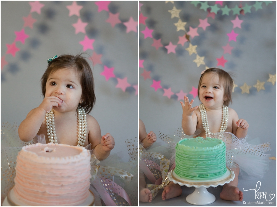stars cake smash photography first birthday