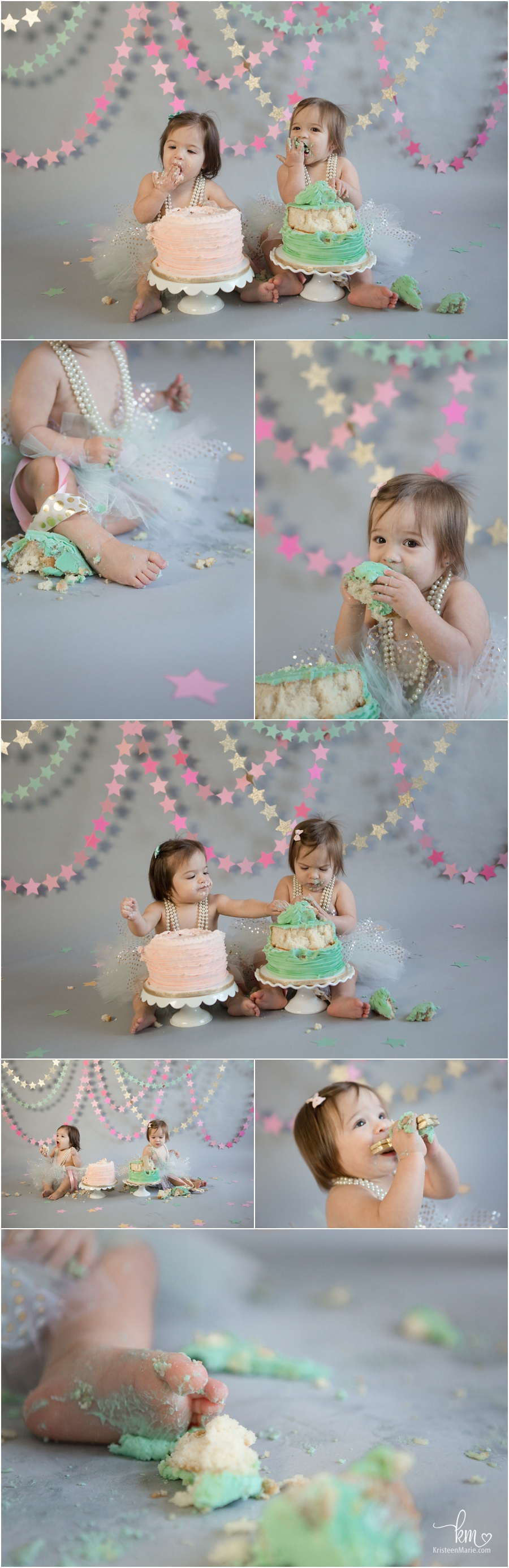 pastel star cake smash pictures