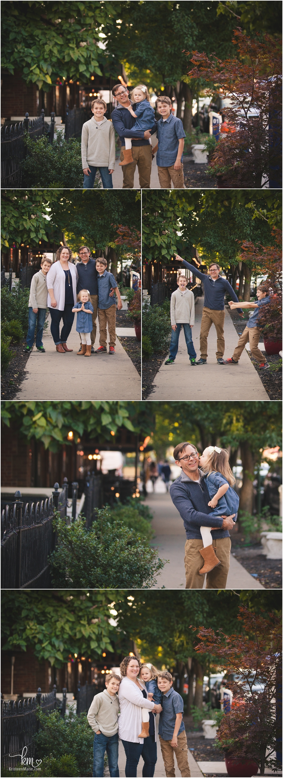 family photography in Broad Ripple Village