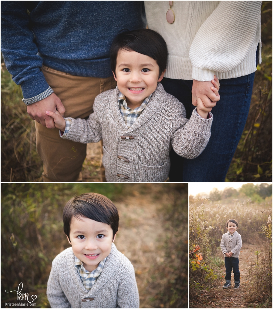 Happy 3 year old boy pictures - poses for three year old