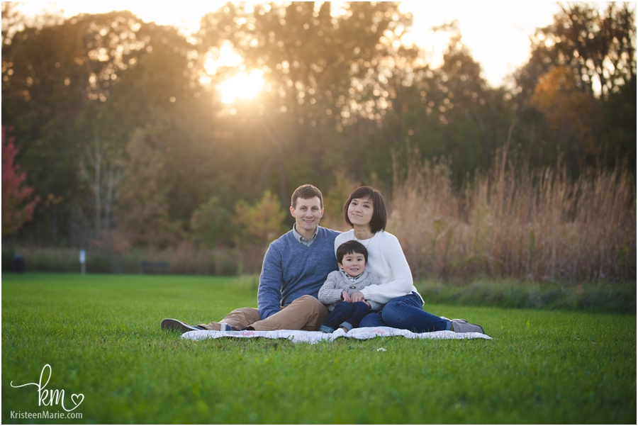 Sunset pictures in Fall in Indianapolis - Indy family photographer