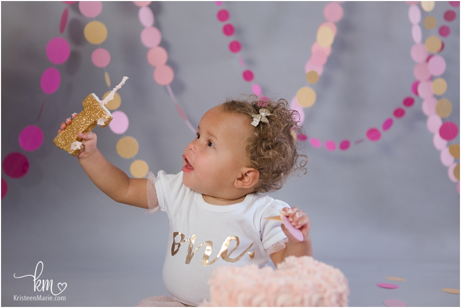 first birthday cake smash girl