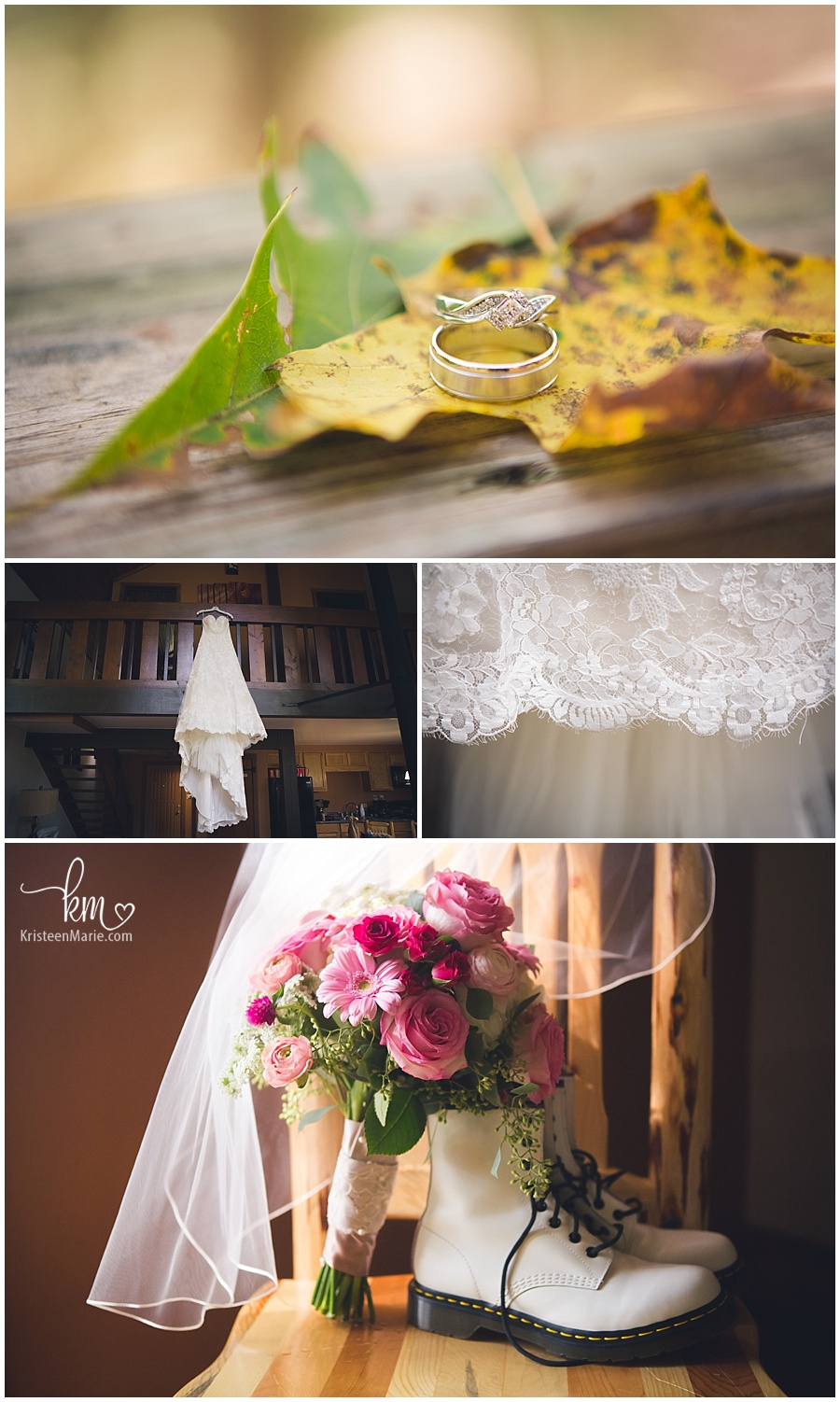 wedding details - wedding at Brown County State Park