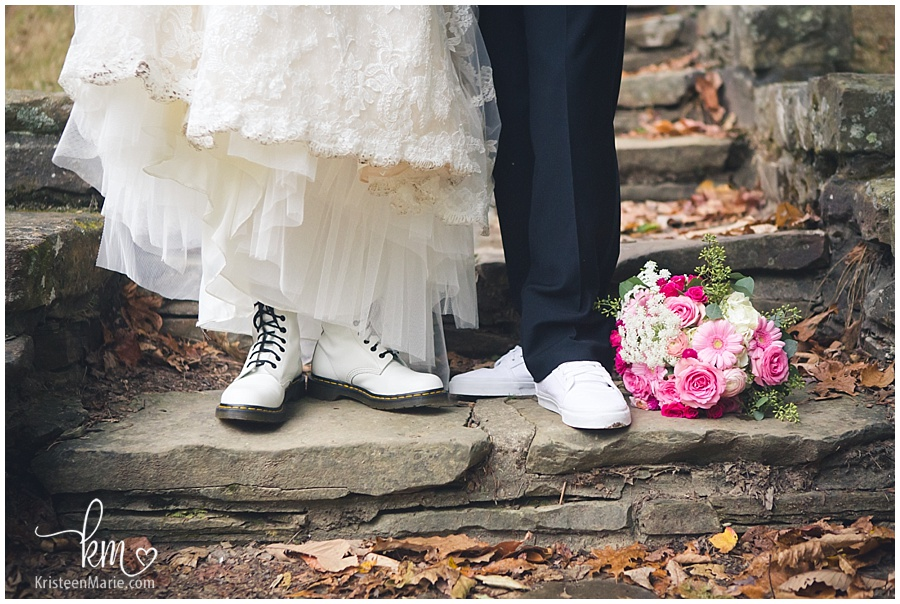 boots and shoes for bride and groom
