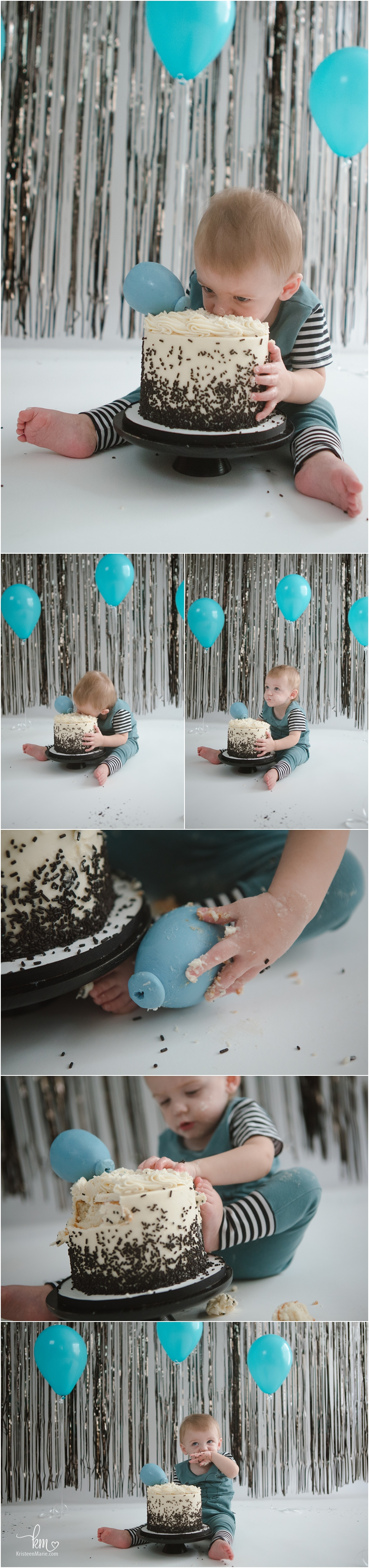 birthday boy with teal themed session