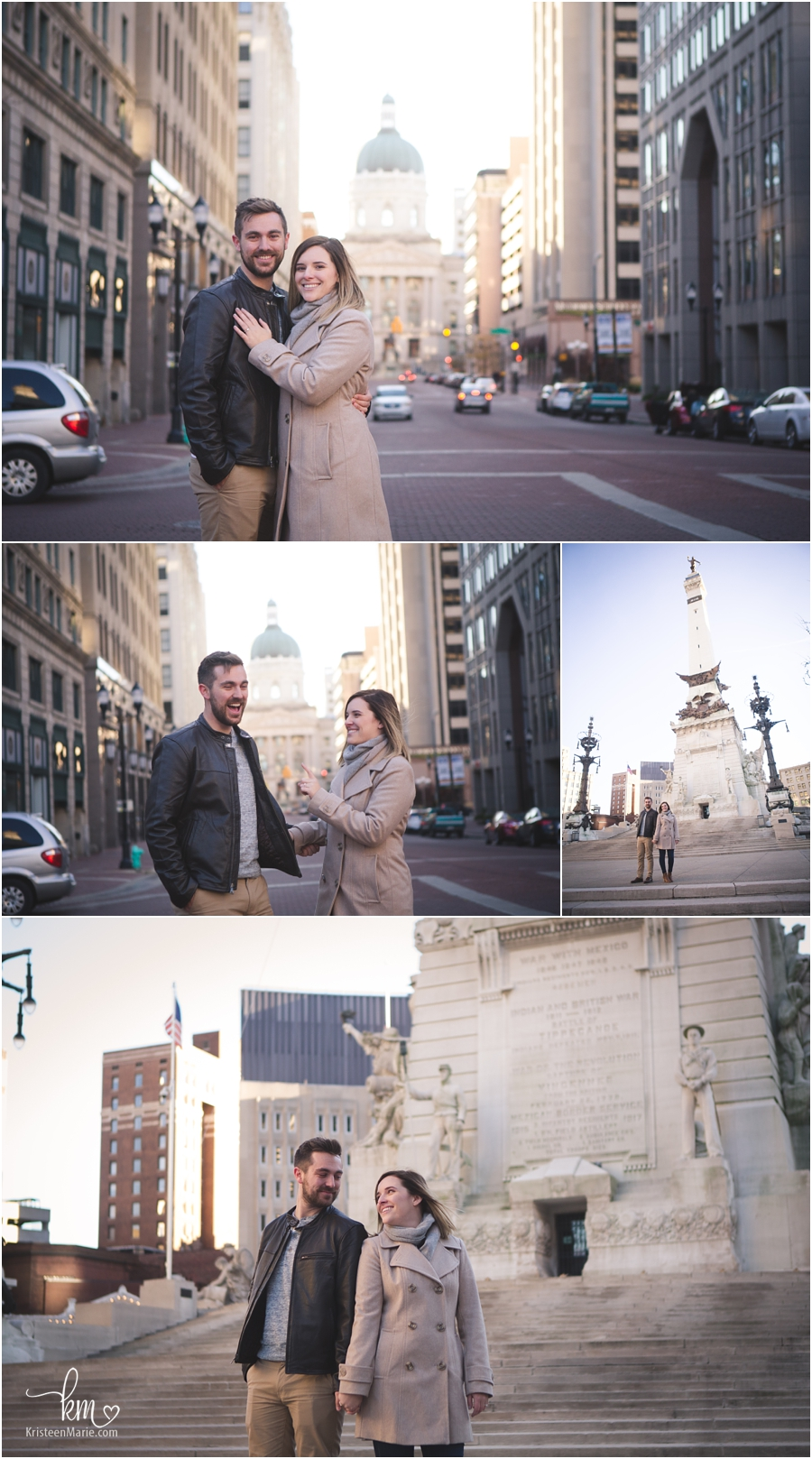engagement pictures in Indianapolis - Downtown Indy