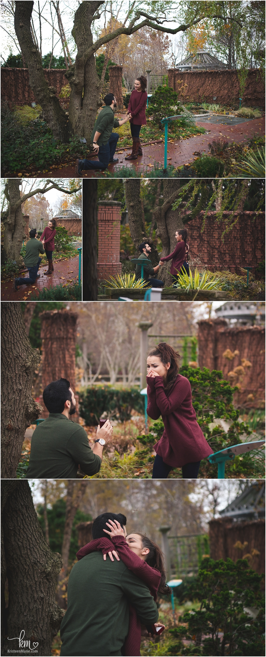 Proposal photography at Indianapolis Zoo