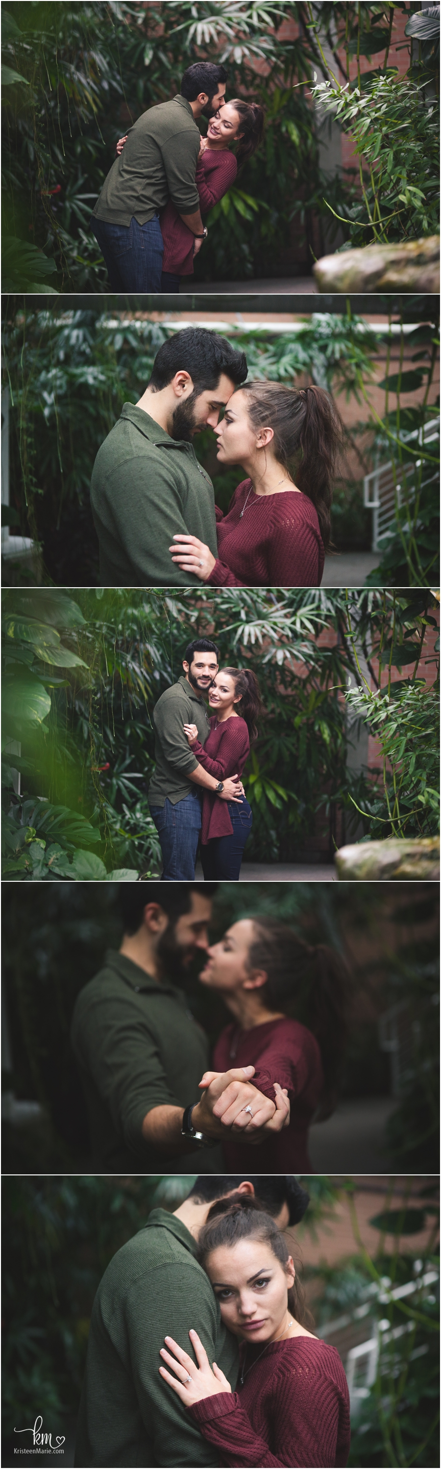 stunning couple - engagment pictures in butterful gardens in Indianapolis Zoo