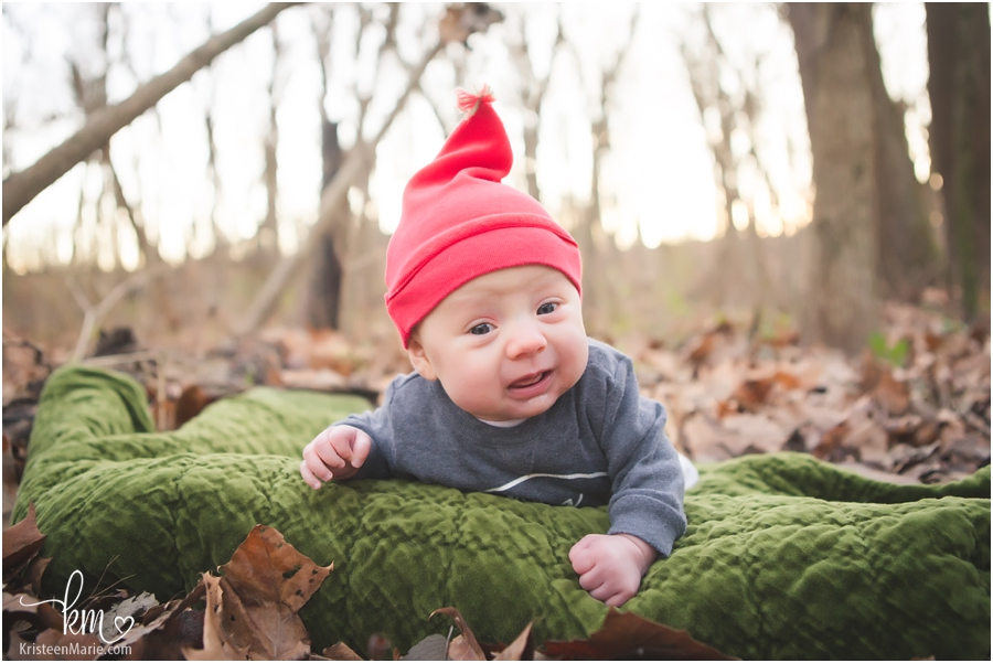 baby with Santa elf hat