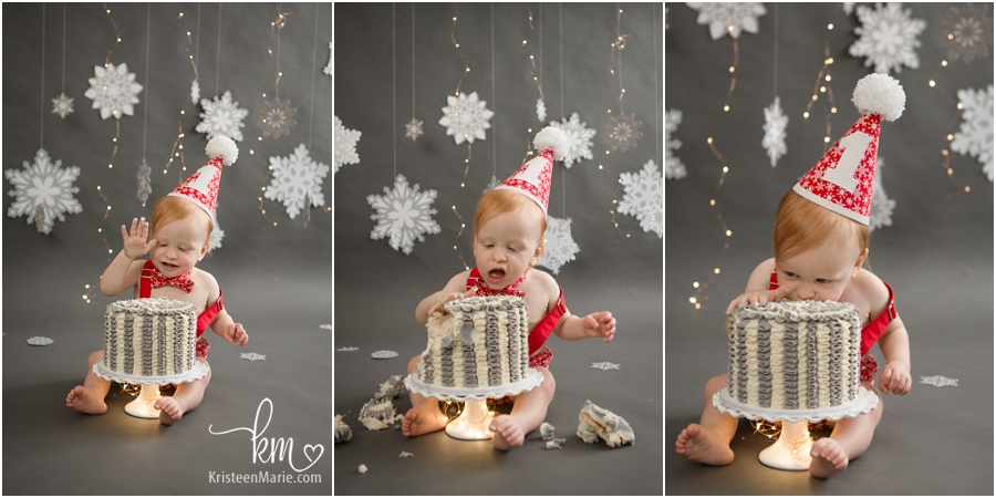 1st birthday cake smash photography in Zionsville, Indiana