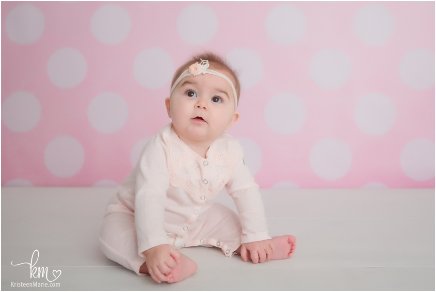 pink and white child photography in Indianapolis, IN