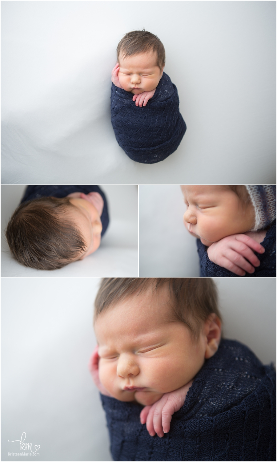 newborn sleeping and wrapped - wrapped newborn photography