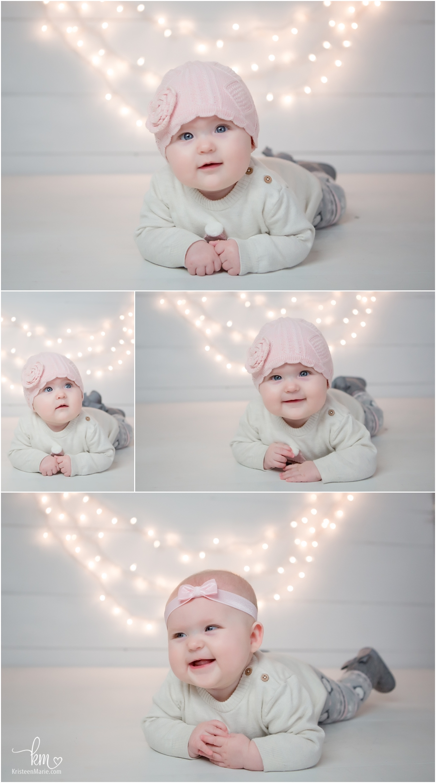 3 month old little girl photos with lights