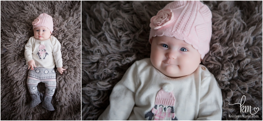 cute baby girl in pink hat