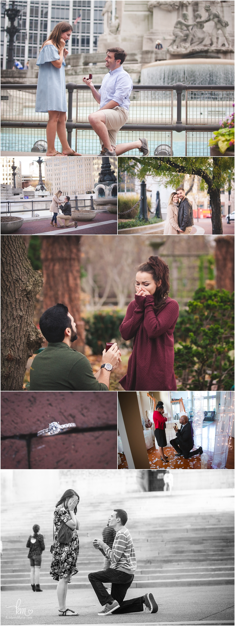 Propsals in Indianapolis - Indianapolis proposal photographer
