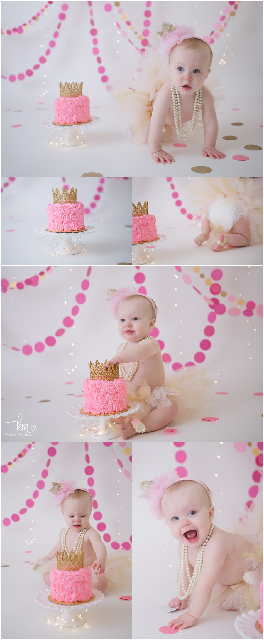 The birthday girl - pink and gold