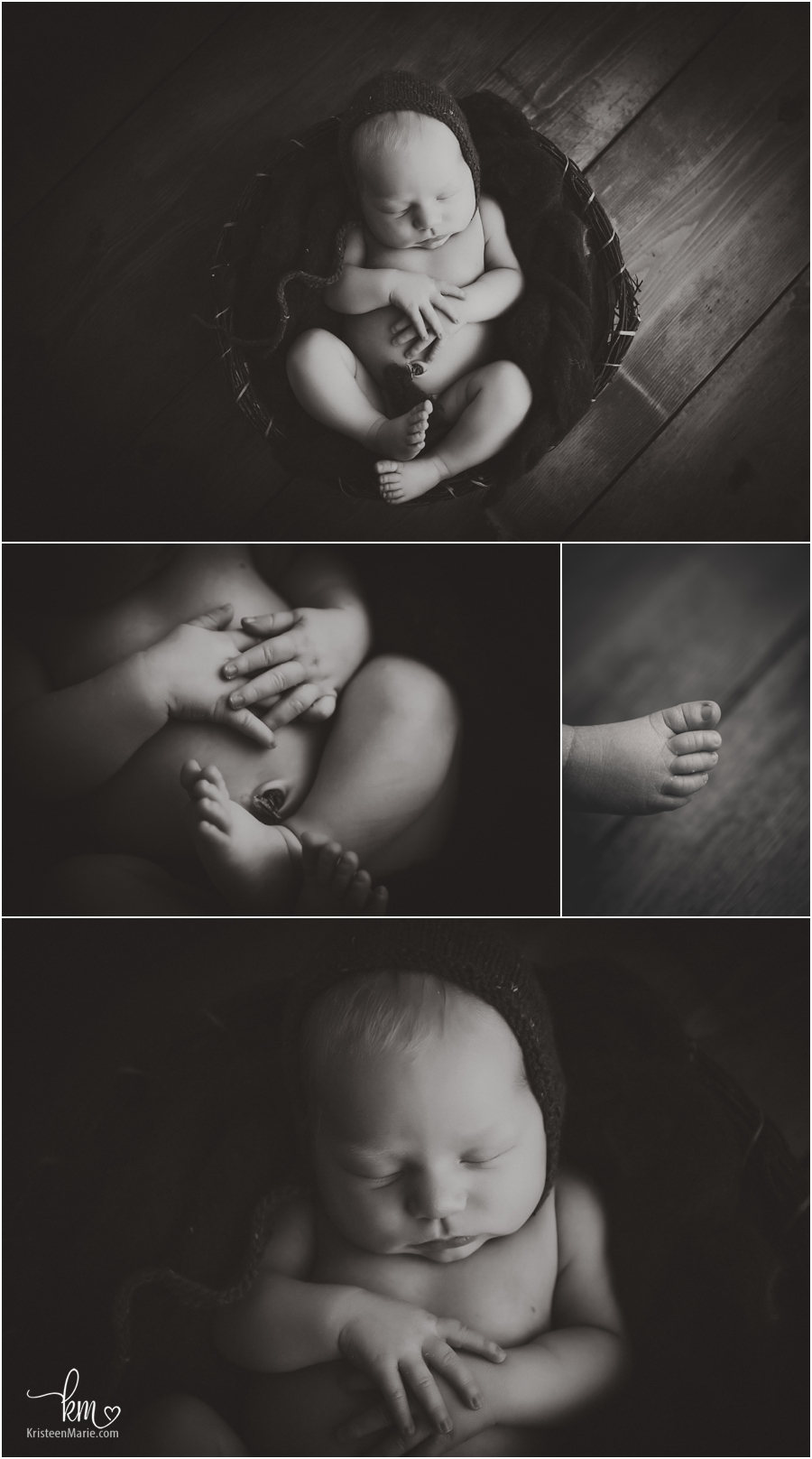 black and white newborn photography pictures - very moody