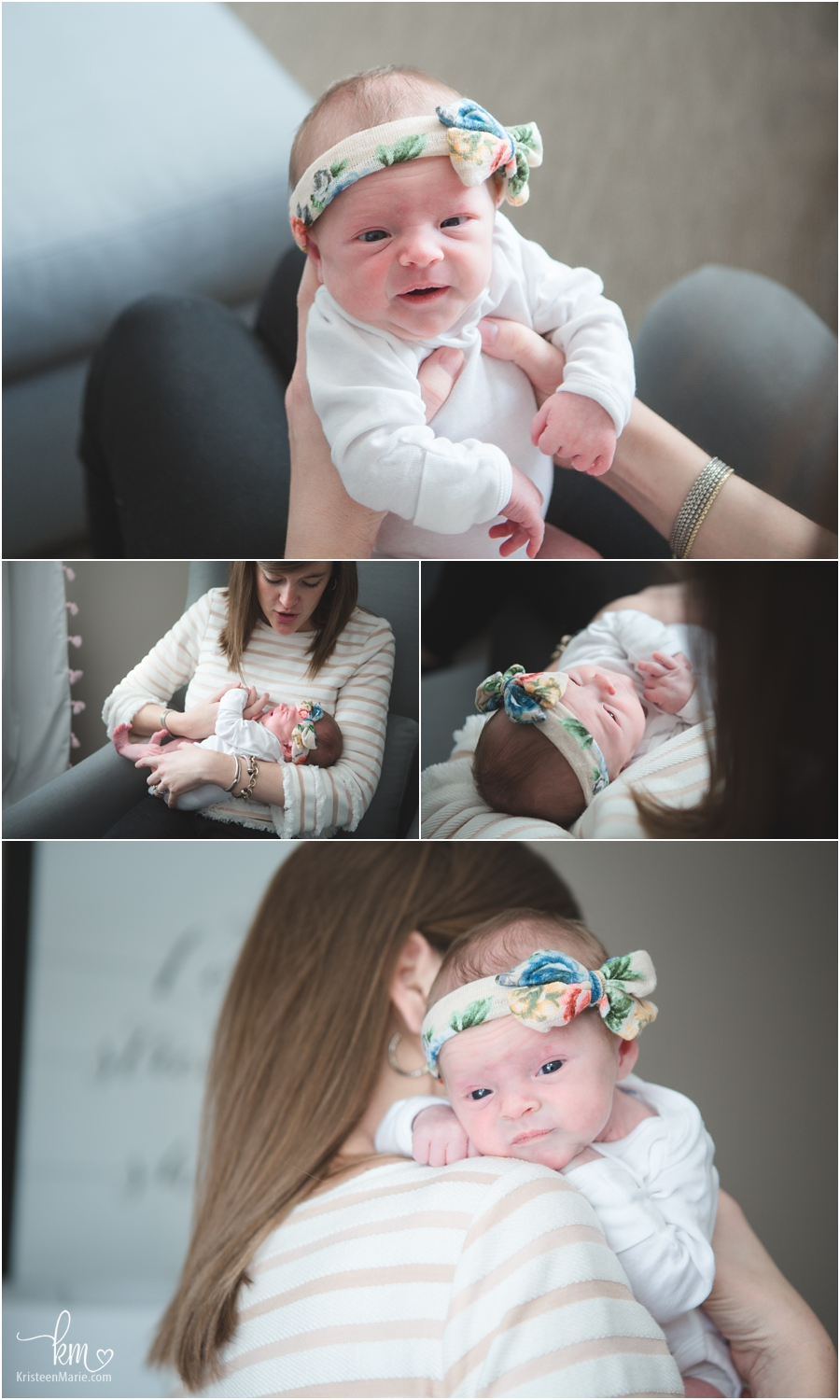 awake newborn pictures - lifestyle photography