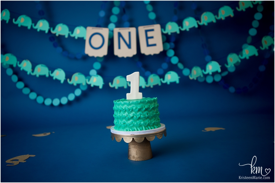 1st birthday cake smash set-up