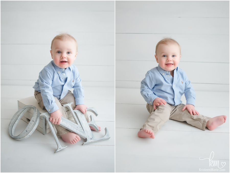 1st birthday studio pictures in Indianapolis, IN
