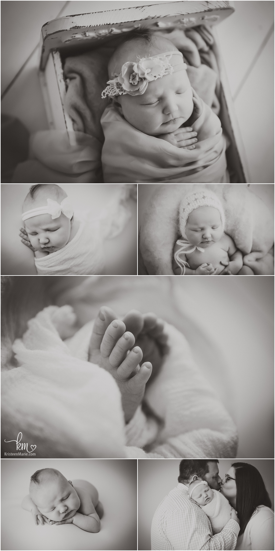newborn pictures in black and white - just stunning!