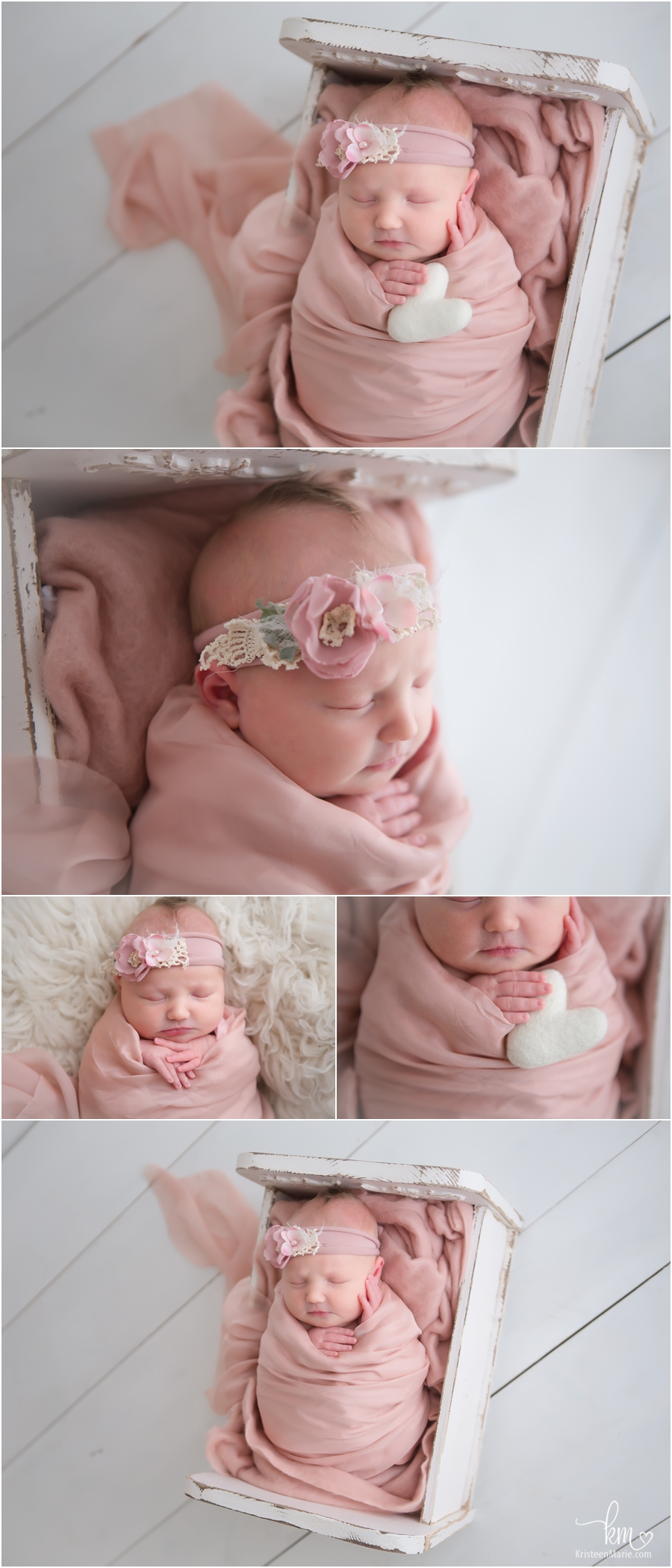 soft pink newborn baby pictures - pink and white - adorable!