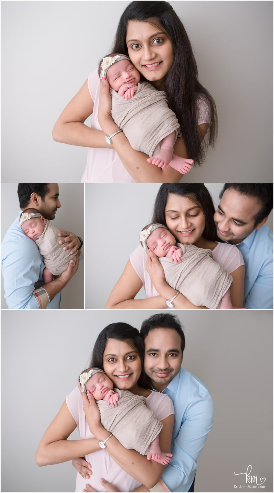 Carmel family with newborn baby - family poses for newborn photography