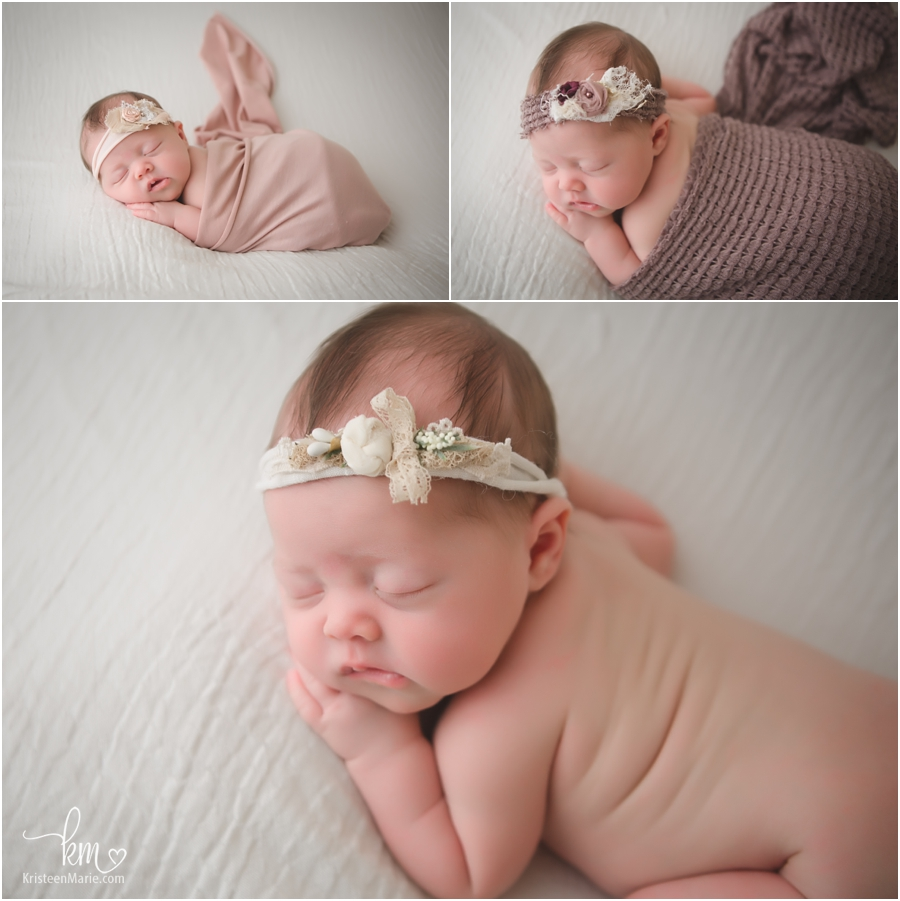 Sleeping newborn baby - Fishers newborn photography studio