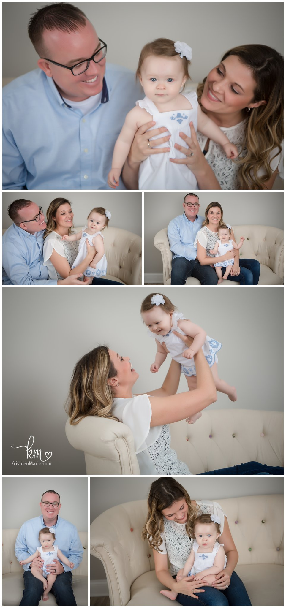 family pictures during sitter session - Indianapolis Photography Studio