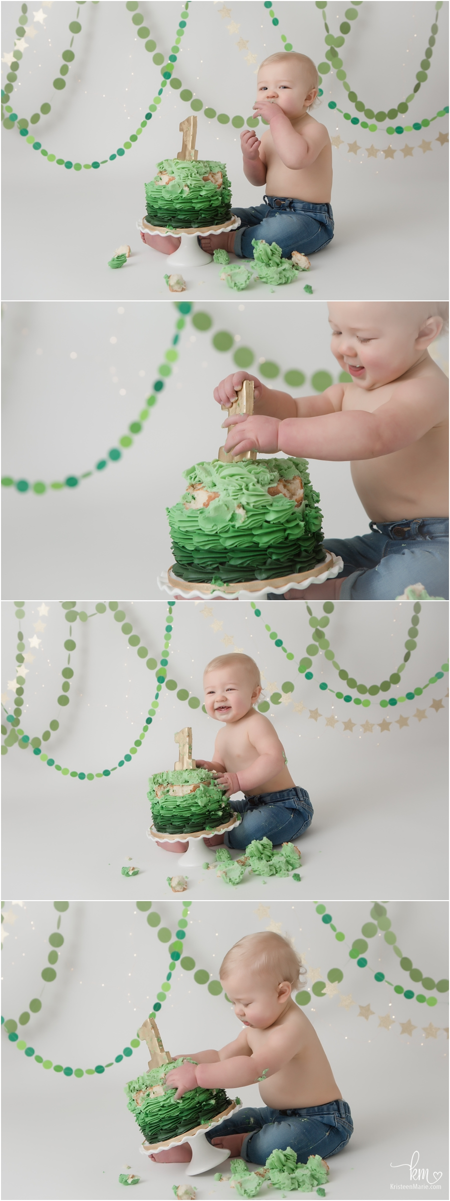 1st birthday cake smash photography sessin in Indianapolis, IN