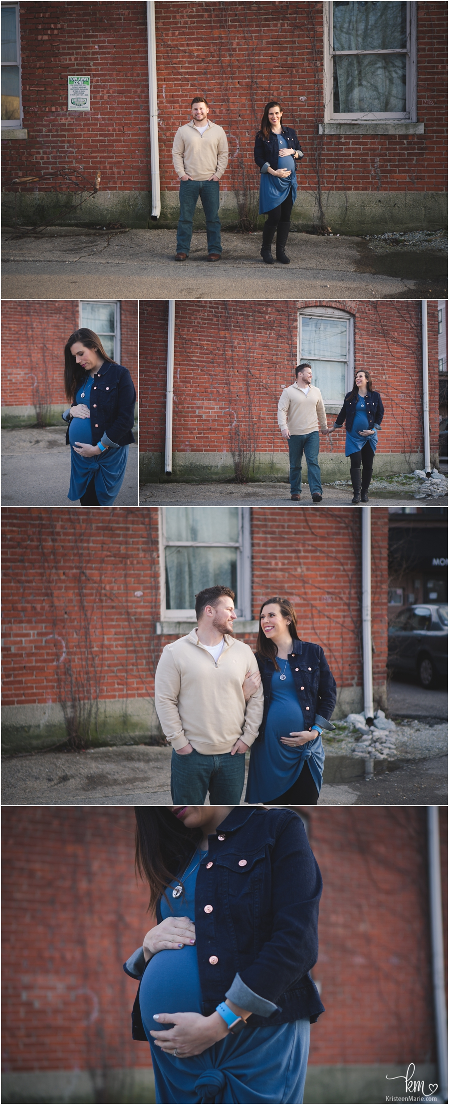 Urban Maternity Pictures in Indianapolis, Indiana