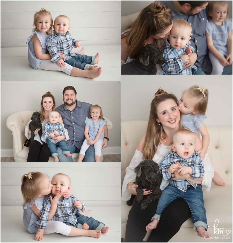 family pictures in studio