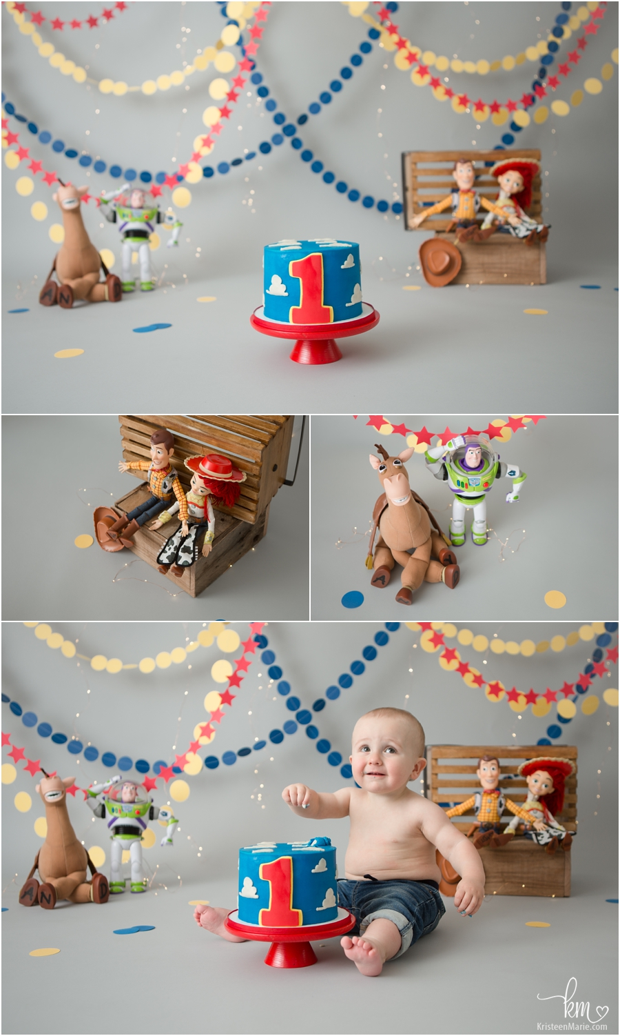 Toy Story Cake Smash Session - the detials and toys