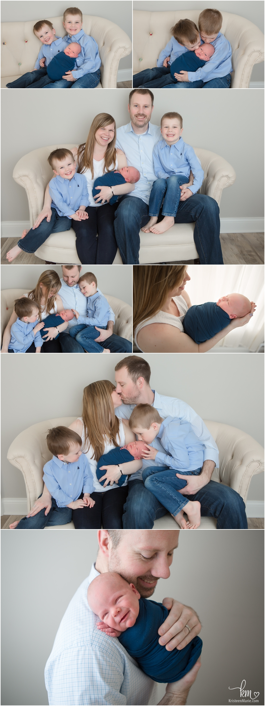 Fishers family photography with newborn baby