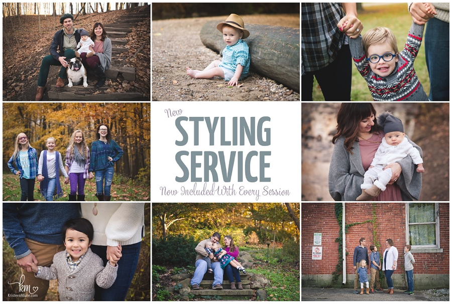 styling service included in every photography session - Indianapolis photographer