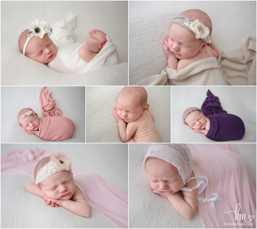 Sleeping newborn baby on beanbag - Indianapolis newborn photographer