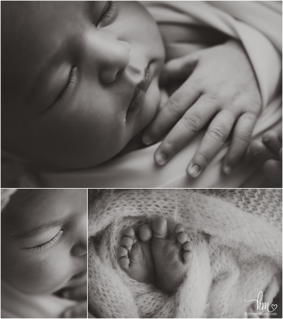 black and white newborn pictures