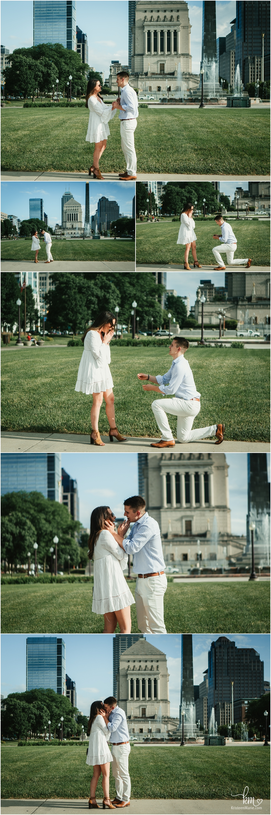 Proposal photography downtown Indianapolis