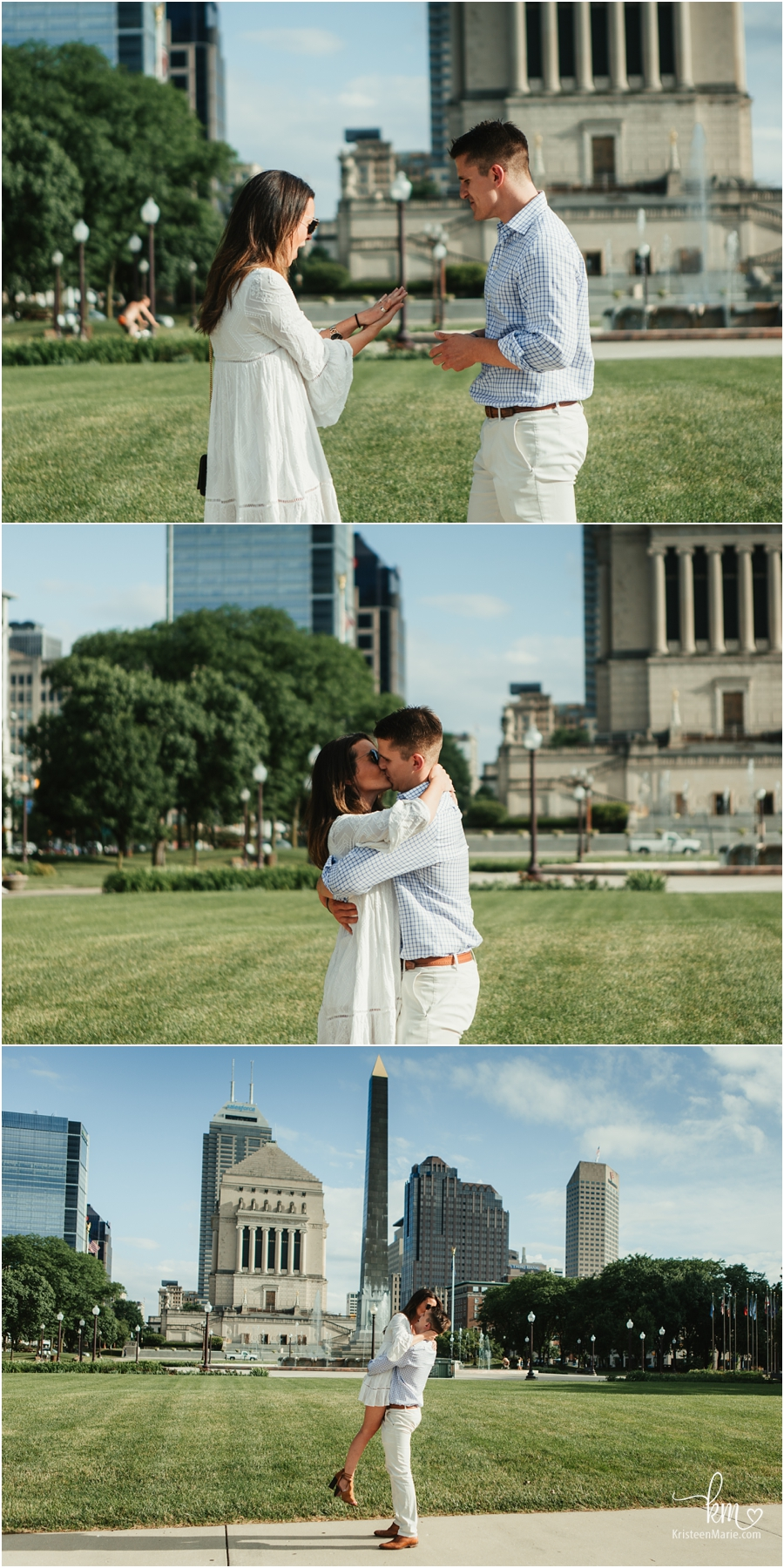 Moments after proposal - Indianapolis proposal photographer