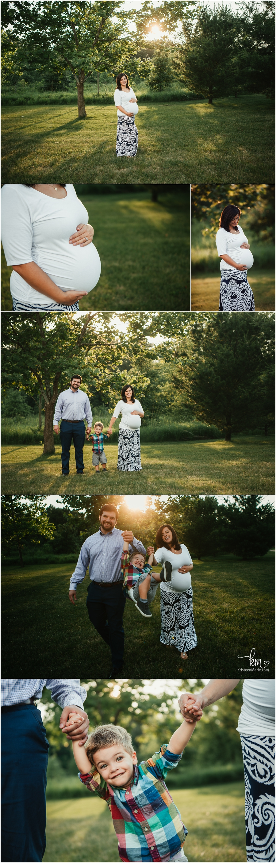 Maternity photography in Indianapolis, IN - the whole family