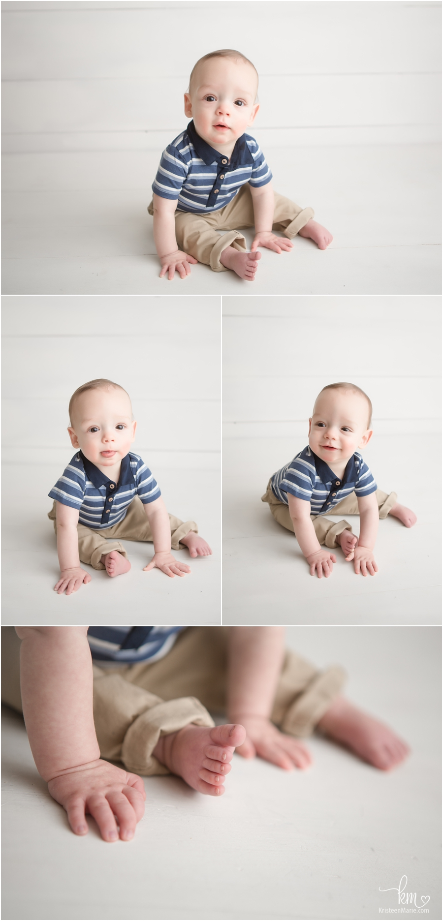 milstone pictures for little sitting boy