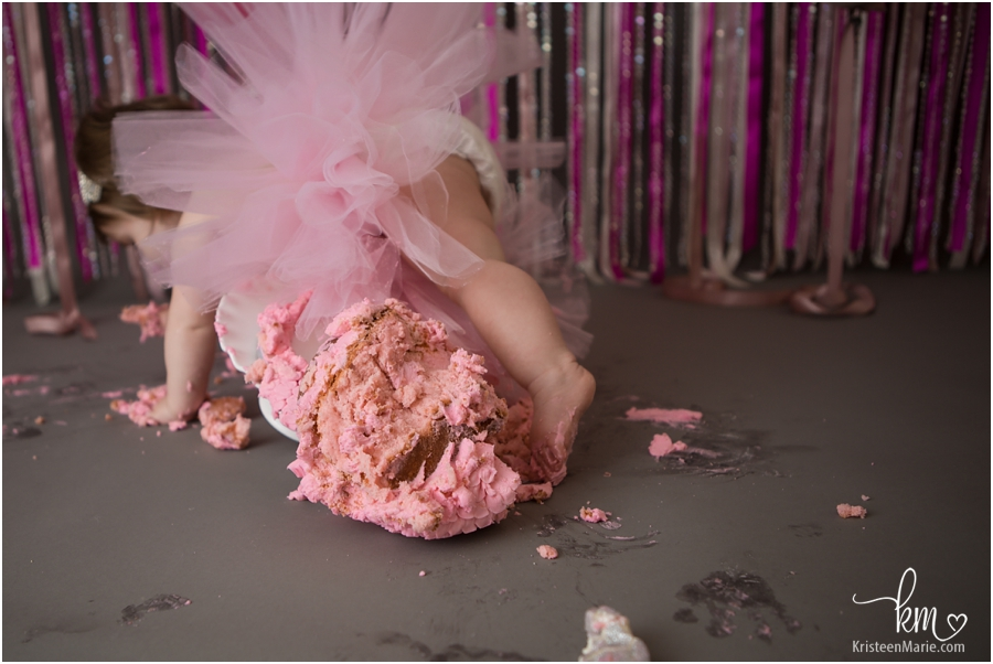 knocking over the cake