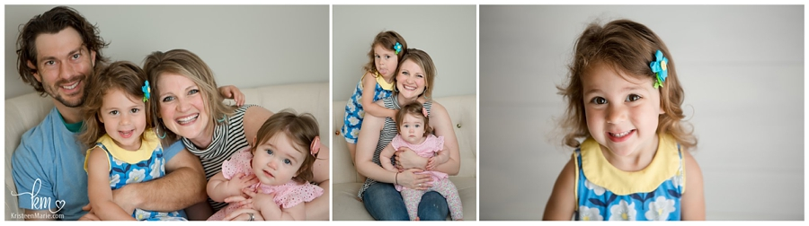 family photography in studio in Indianapolis, IN