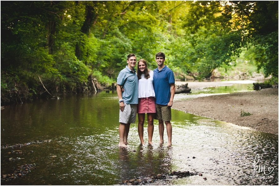 in the creek - Indianapolis family photography session