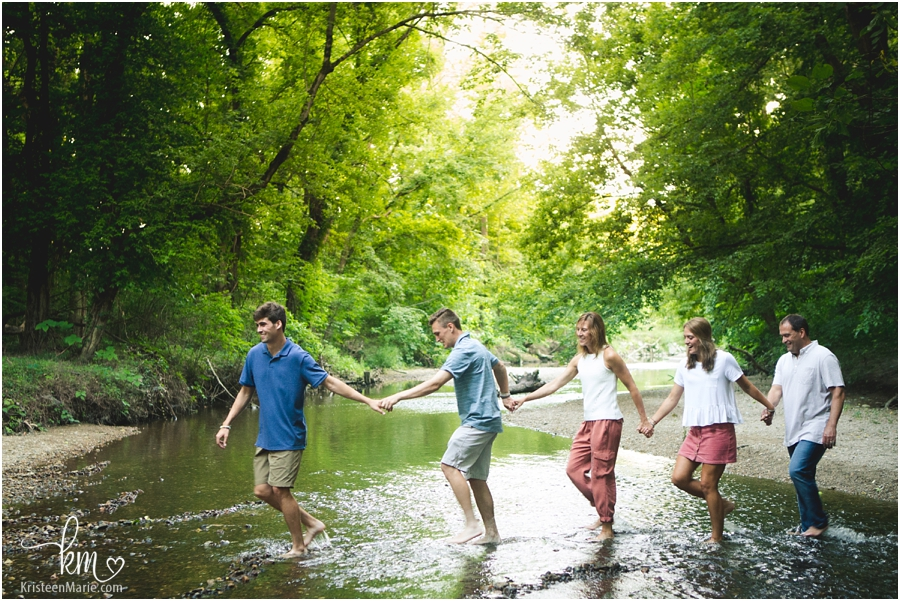 even older kids can play in the creek - Indianapolis Family